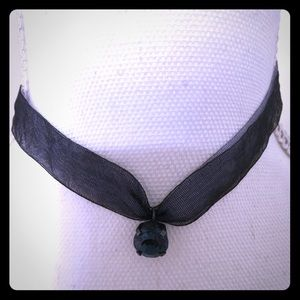 Jewelry - Navy Blue Ribbon Choker 💕 6 for $20